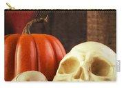 Spooky Halloween Skulls Carry-all Pouch by Edward Fielding