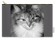 Spooleete. Cat Portrait In Black And White. Carry-all Pouch