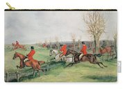 Sporting Scene, 19th Century Carry-all Pouch