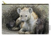 Spotted Hyena Mother And Pups Carry-all Pouch