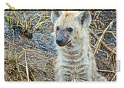 Spotted Hyena Pup In Kruger National Park-south Africa  Carry-all Pouch