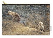 Spotted Hyena Pups In Kruger National Park-south Africa Carry-all Pouch