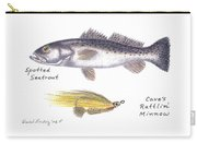 Spotted Seatrout And Rattlin' Minnow Fly Carry-all Pouch