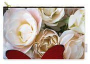 Spray Roses And Red Butterfly Carry-all Pouch