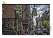 Spring And Mulberry - Street Scene - Nyc Carry-all Pouch by Madeline Ellis