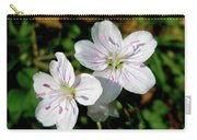 Spring Beauty Wildflowers - Claytonia Virginica Carry-all Pouch