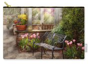 Spring - Bench - A Place To Retire  Carry-all Pouch by Mike Savad