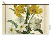 Spring Bouquet Of Daffodils And Narcissus With Butterfly Vertical Carry-all Pouch