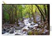 Spring Cascade Of Water From Bridal Veil Falls In Yosemite Np-2013 Carry-all Pouch