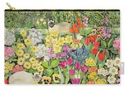 Spring Cats Carry-all Pouch by Hilary Jones