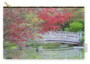 Spring Color Over Japanese Garden Bridge Carry-all Pouch