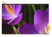 Spring Crocus Pair  Carry-all Pouch