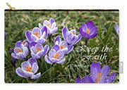 Spring Crocus With Scripture Carry-all Pouch