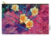 Spring Daffodils On Red - Horizontal Carry-all Pouch