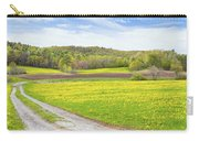 Spring Farm Landscape With Dirt Road And Dandelions Maine Carry-all Pouch