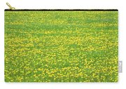 Spring Farm Panorama With Dandelion Bloom In Maine Canvas Poster Print Carry-all Pouch