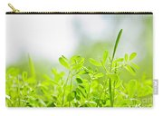 Spring Green Sprouts Carry-all Pouch by Elena Elisseeva