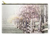 Spring Landscape With Fence Carry-all Pouch
