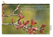 Spring Leaves Greeting Card With Verse Carry-all Pouch