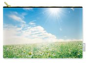 Spring Meadow Under Sunny Blue Sky Carry-all Pouch