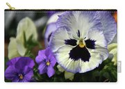 Spring Pansy Flower Carry-all Pouch
