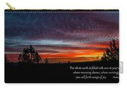 Spring Peaceful Morning Sunrise Bible Verse Photography Carry-all Pouch