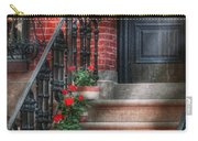Spring - Porch - Hoboken Nj - Geraniums On Stairs Carry-all Pouch