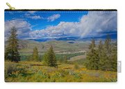 Spring Rain Across A Valley Carry-all Pouch