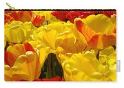 Spring Tulips Art Prints Yellow Red Tulip Flowers Carry-all Pouch