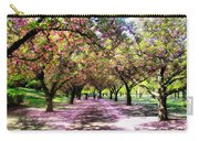 Spring Walkway Lined By Blooming Cherry Trees Carry-all Pouch