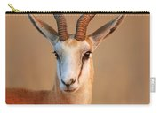 Springbok  Portrait Carry-all Pouch by Johan Swanepoel