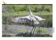 Springing Sandhill Crane Carry-all Pouch