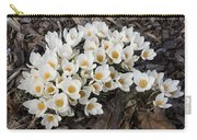 Springtime Abundance - A Bouquet Of Pure White Crocuses Carry-all Pouch