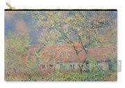 Springtime At Giverny Carry-all Pouch by Claude Monet
