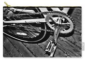 Sprocket And Chain - Black And White Carry-all Pouch