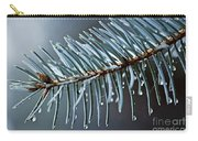 Spruce Needles With Water Drops Carry-all Pouch by Elena Elisseeva