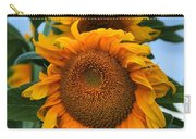 Squamish Sunflower Portrait Carry-all Pouch