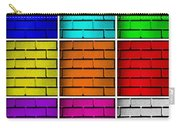 Squared Color Wall  Carry-all Pouch by Semmick Photo