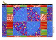 Squares Lines Dots Symbol Infinity Red Purple Blue Green Colorful Waves Unique Background Designs  A Carry-all Pouch