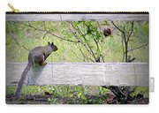 Squirrel And Rosebush Carry-all Pouch