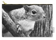 Squirrel Black And White Carry-all Pouch