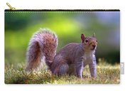 Squirrel On Grass Carry-all Pouch