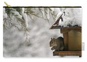 Squirrel On The Bird Feeder Carry-all Pouch