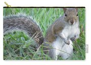 Squirrel On The Grass Carry-all Pouch