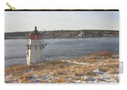 Squirrel Point Lighthouse Kennebec River Maine Carry-all Pouch by Keith Webber Jr