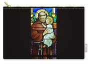 St Anthony In Stained Glass Carry-all Pouch