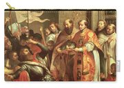 St. Bernard Of Clairvaux 1090-1153 And William X 1099-1137 Duke Of Aquitaine Oil On Canvas Carry-all Pouch