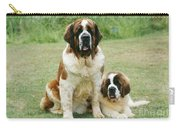 St Bernard With Puppy Carry-all Pouch