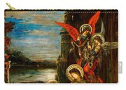 St Cecilia The Angels Announcing Her Coming Martyrdom Carry-all Pouch by Gustave Moreau
