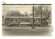 St. Charles Ave. Streetcar Sepia Carry-all Pouch